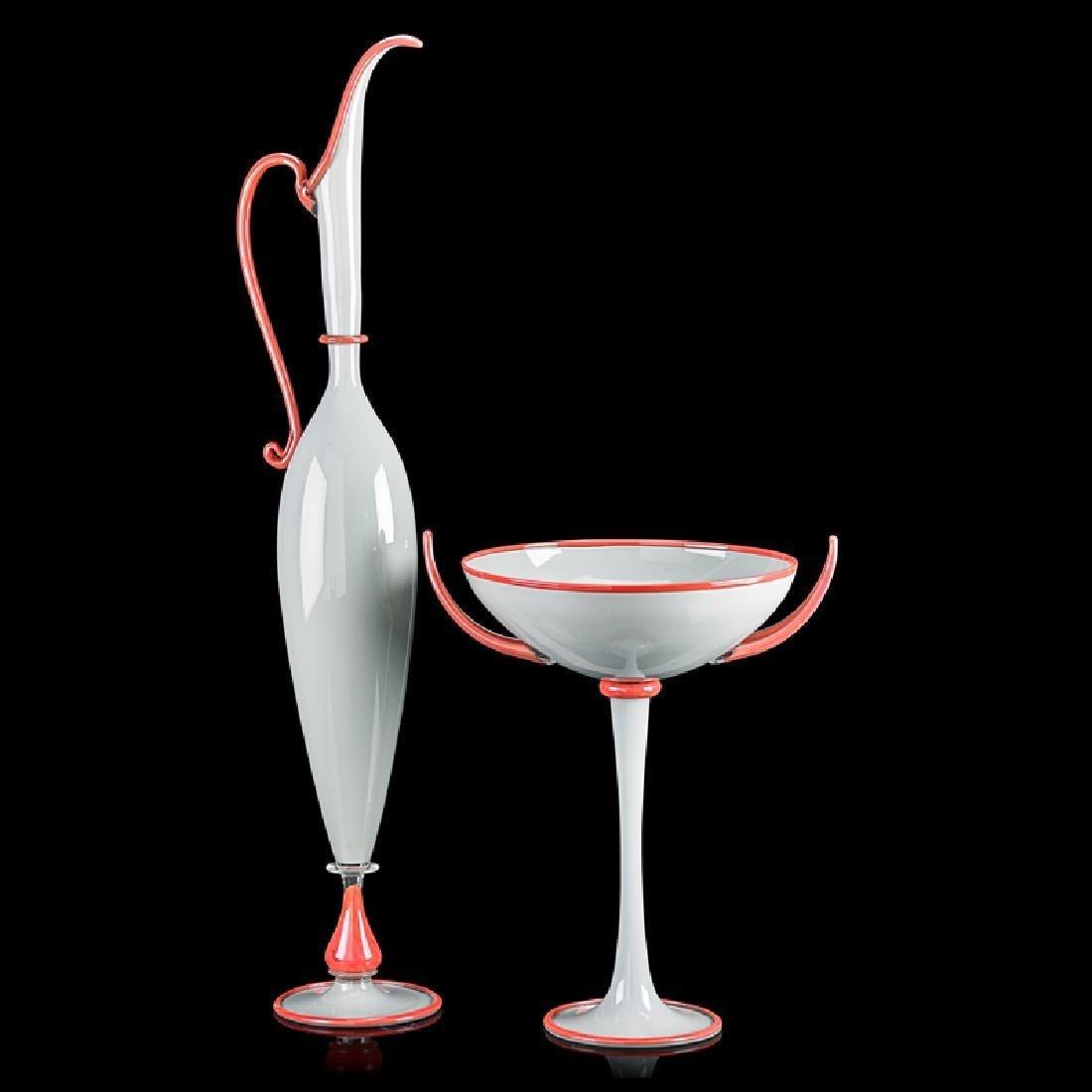 Dante Marioni Large PAIR Studio Art Glass forms. Each