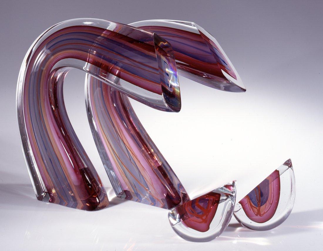 Harvey Littleton RARE 4 Piece Studio Art Glass form