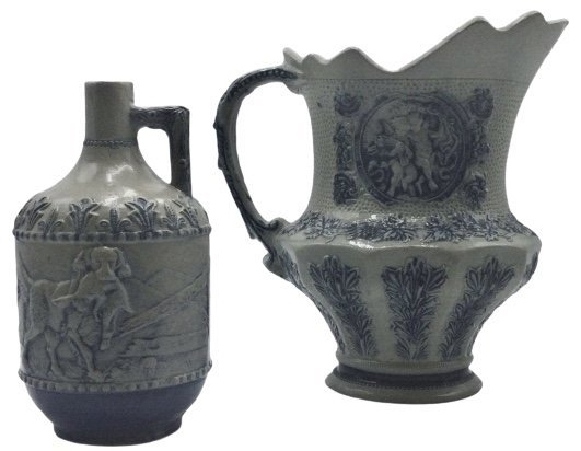 Stoneware bottle form and stoeware pitcher form