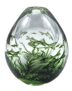 Edvard Hald Orrefors fish graal vase 108 E