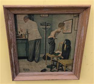 Norman Rockwell Vintage print on Canvas