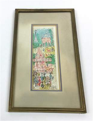 Charles Cobelle Signed and numbered litthograph 233 of