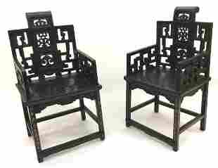 RARE Carved Antique Chinese Chairs Very Old Amazing
