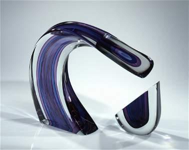 Harvey Littleton 2 piece Sculpture Sommerso Glass