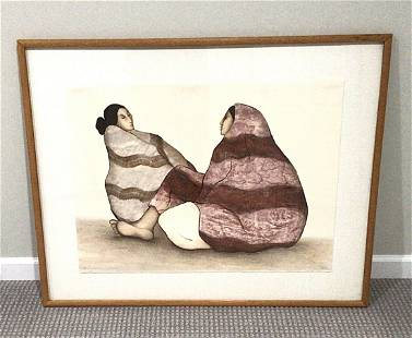 R.C. Gorman Signed and Numbered Lithograph of women