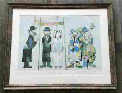 Wedding Litho Artist signed and dated 1973