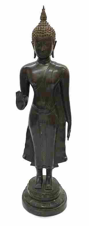 Monumental Bronze Temple Bronze Buddha sculpture Meiji