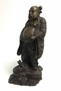 Bronze Buddha Sculpture with dragon