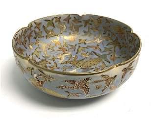 Meiji era Satsuma artist signed bowl with bird