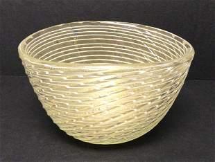 Barovier and Toso Murano Zebrato Bowl by Ercole