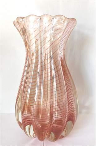 Ercole Barovier Barovier and Toso Murano Zebrato Vase