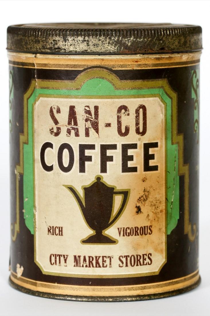 San-Co Coffee Tin by M. Leonard