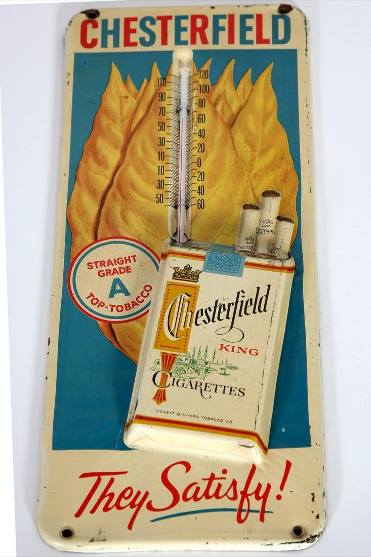 Chesterfield Cigarettes Advertising Thermometer