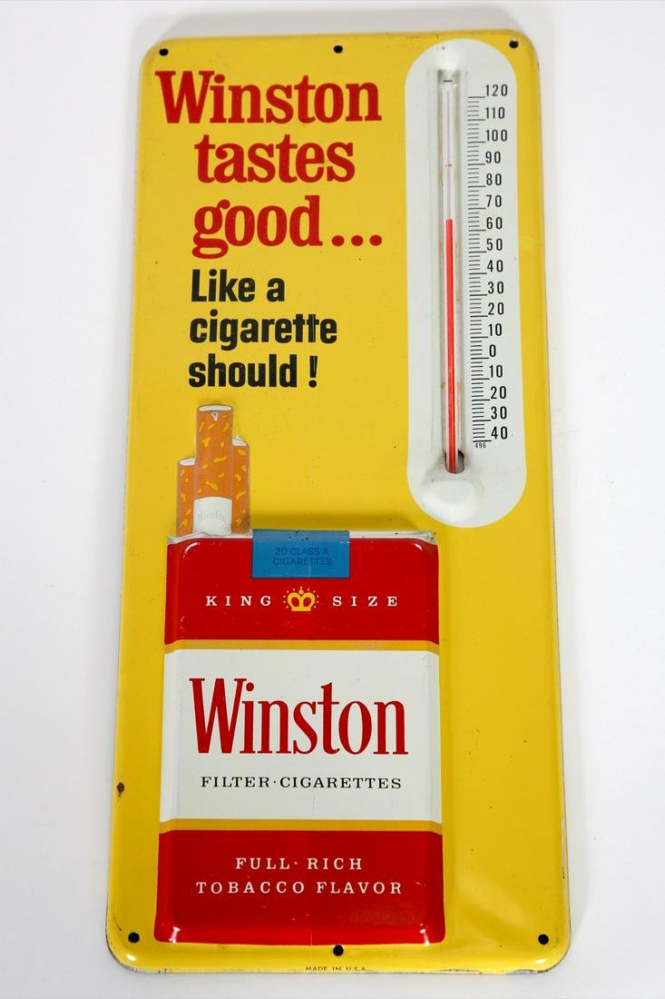 Winston Cigarettes Advertising Thermometer