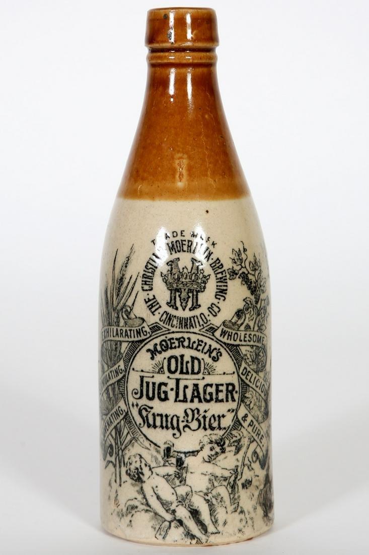 Christian Moerlein Stoneware Beer Bottle