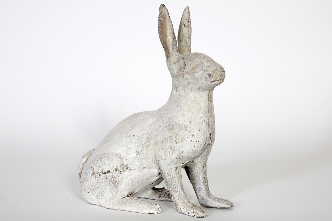 Figural Cast Iron Rabbit Doorstop/Garden ornament.