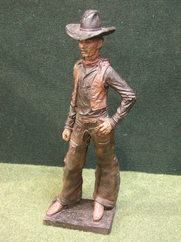 2: COMPOSTION FIGURE OF AN AMERICAN COWBOY
