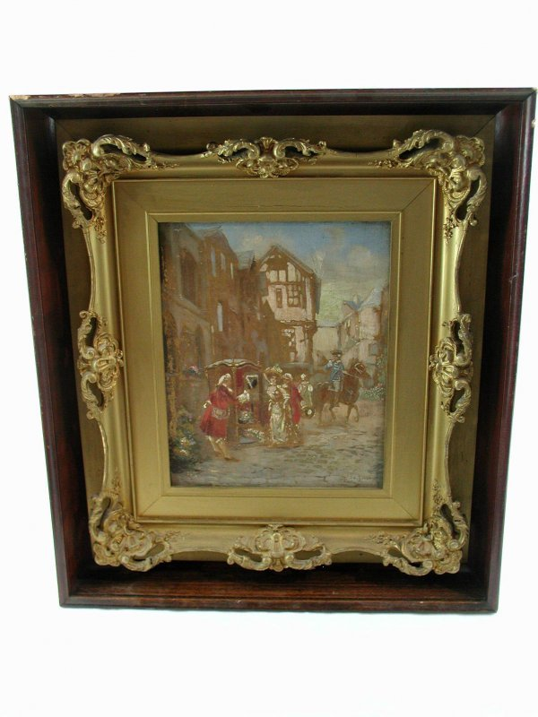 21: CIPRIANO OIL PAINTING ON CANVAS 19TH/20TH CENTURY