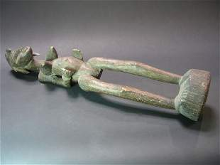 AFRICAN WOOD ANCESTER FIGURE, SENUFO TRIBE