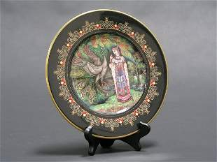 VILLROY AND BOCH DECORATED RUSSIAN FABLE PLATES