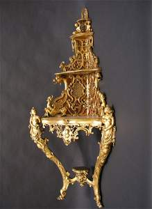 1204: 19TH CENTURY GILDED CORNER CABINET