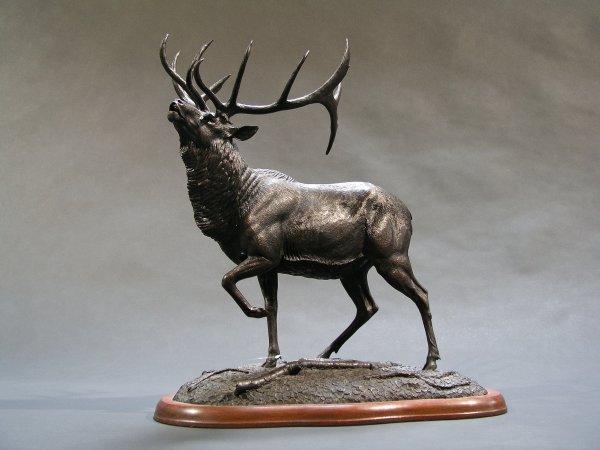 "1001: GERALD GEORGE BALCIAR BRONZE ""Majestic Elk"""
