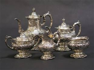 1008: REED AND BARTON STERLING FRANCIS I TEA SERVICE