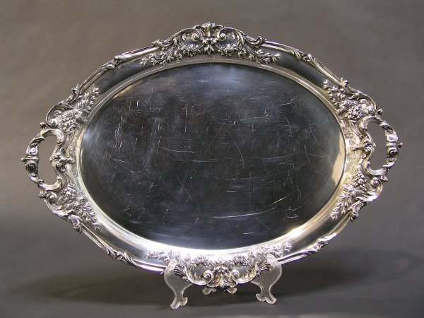 1009: REED AND BARTON STERLING FRANCIS I LARGE TRAY