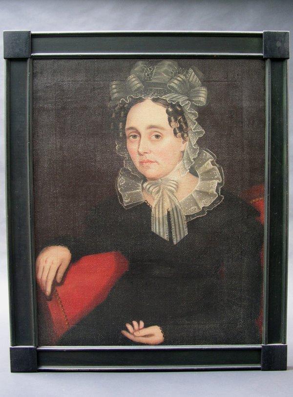 1014: AMMI PHILLIPS (American 1788-1865) Oil Painting
