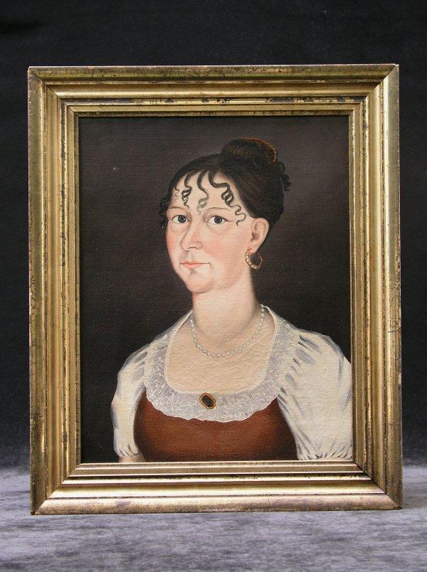 1015: OTIS HOVEY (American 1788-1840) Oil Painting