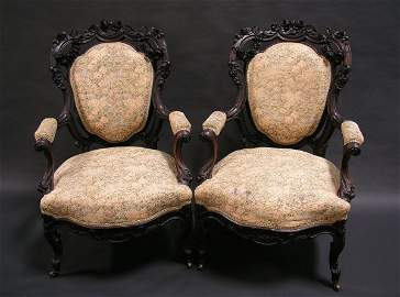 1017: AMERICAN ROCOCO REVIVAL 11PC ROSEWOOD SUITE