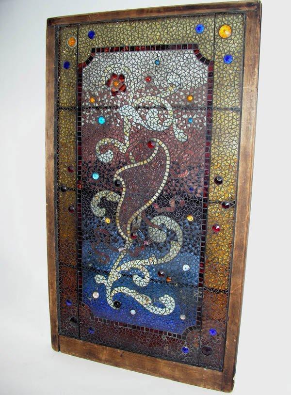 "1004: Stained glass window ""Mosaic"" Tiffany / Belcher"
