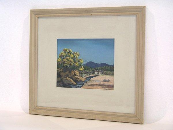 "999: Pastel Helmuth Naumer ""Bridge and Arroyo"""