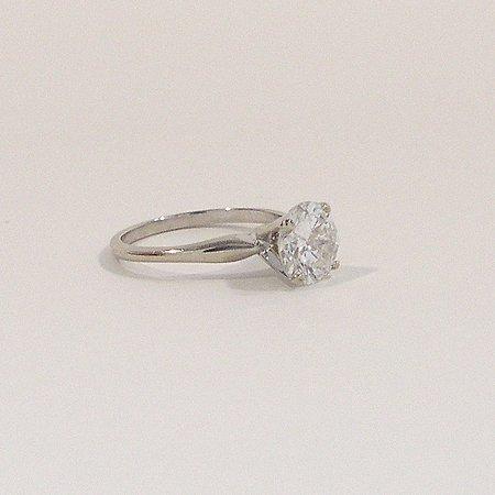 994: Ladies 14K White Gold Diamond Solitaire Ring
