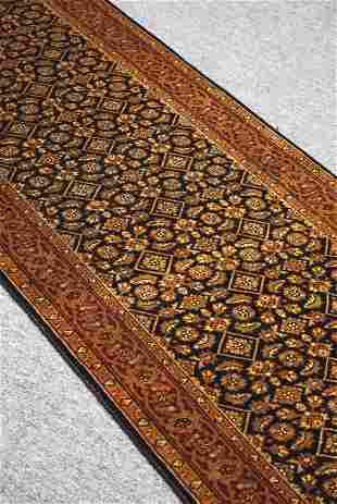 Indian Heratin Handmade Rug 100% Wool 2.6 x 19.6