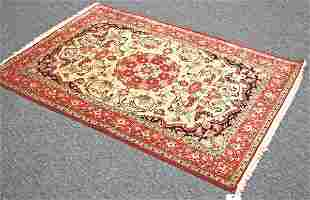 Handmade Persian Quom 100% Silk Rug 3.6 x 5