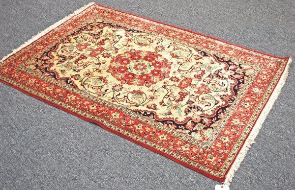 5: Handmade Persian Quom 100% Silk Rug 3.6 x 5