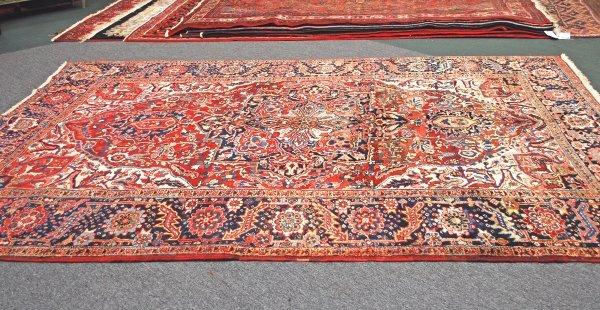 7: Persian Handmade Heriz Rug 8.1 x 10.3