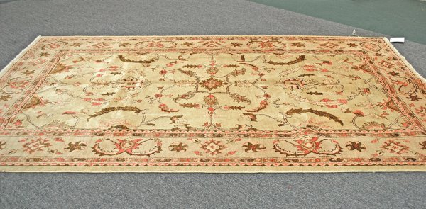 8: Afghanistan Oushak Hand Knotted Rug 6.6 x 10.2