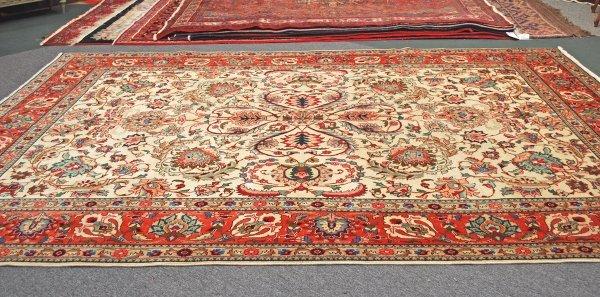 11: Persian Handmade Tabriz Rug 1950's; 9.3 x 12.8
