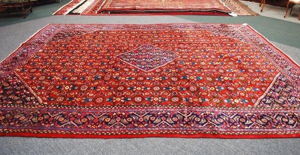 12: Persian Handmade Tabriz Rug  1950's 9.8 x 12.10
