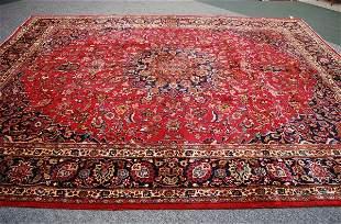 Persian Handmade Mashad Rug; 1950's; 10 x 12.9