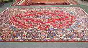 15 Persian Handmade Kerman Yazd  Rug 1950s 911 x 13