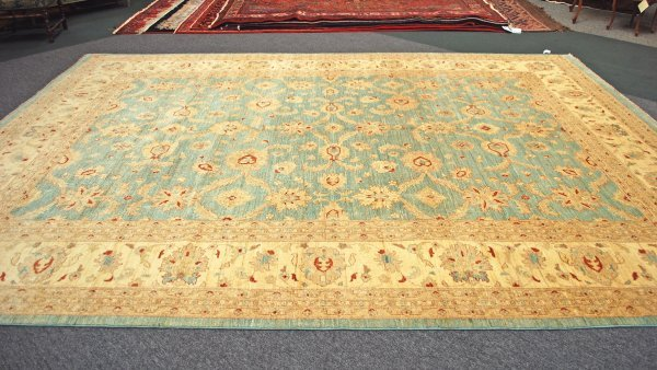 16: Afghanistan Oushak Hand Knotted Rug 10 x 13.8
