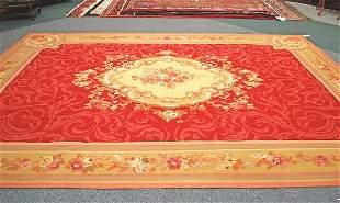 Handmade Aubusson Weave Rug 9.6 x 13.11