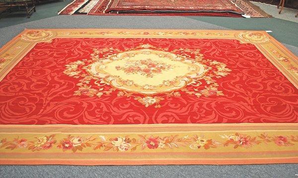 17: Handmade Aubusson Weave Rug 9.6 x 13.11