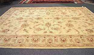 Afghanistan Oushak Hand Knotted Rug 10 x 14.3