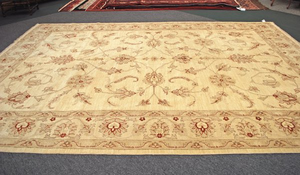 18: Afghanistan Oushak Hand Knotted Rug 10 x 14.3
