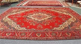Persian Handmade Tabriz Rug 1950's 11 x 15.1