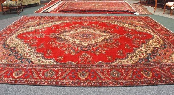 19: Persian Handmade Tabriz Rug 1950's 11 x 15.1